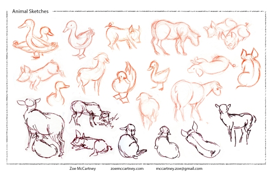 ZoeM_Animal_Sketches